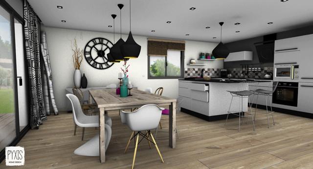 Pyxis home design · architectes dintérieur etude maison contemporaine en montagne contemporain salle a manger