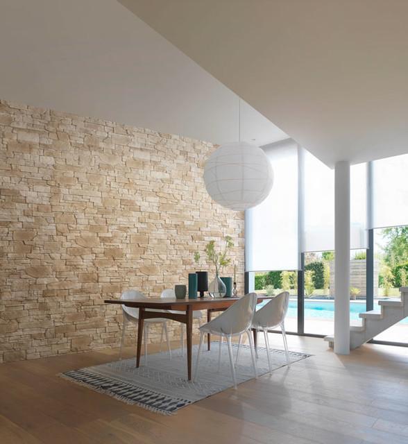 Fa ades et murs en pierre s che tahoe contemporain for Salle a manger en pierre
