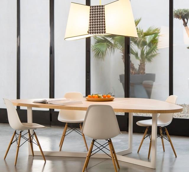 Id es de luminaires pour la salle manger contemporary for Luminaires suspendus salle manger