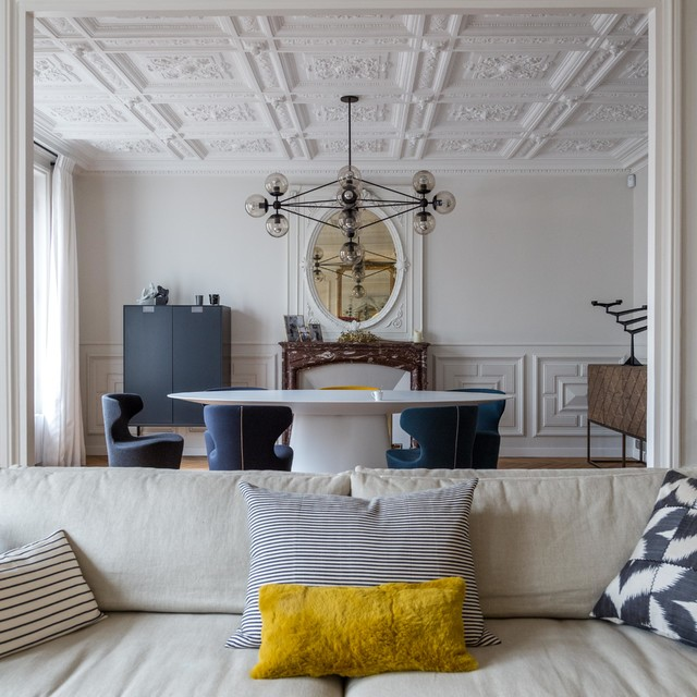 la dolce vita contemporain salle manger paris par agence v ronique cotrel. Black Bedroom Furniture Sets. Home Design Ideas