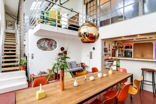 loft argenteuil industrial comedor par s de meero. Black Bedroom Furniture Sets. Home Design Ideas