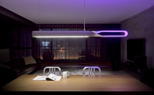 luminaires en led design contemporain salle manger paris par atmosse. Black Bedroom Furniture Sets. Home Design Ideas