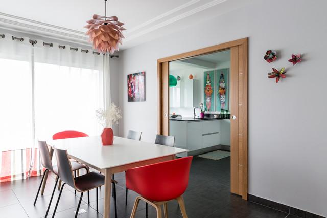 Mise en ambiance cuisine - Maison neuve - Modern - Esszimmer ...