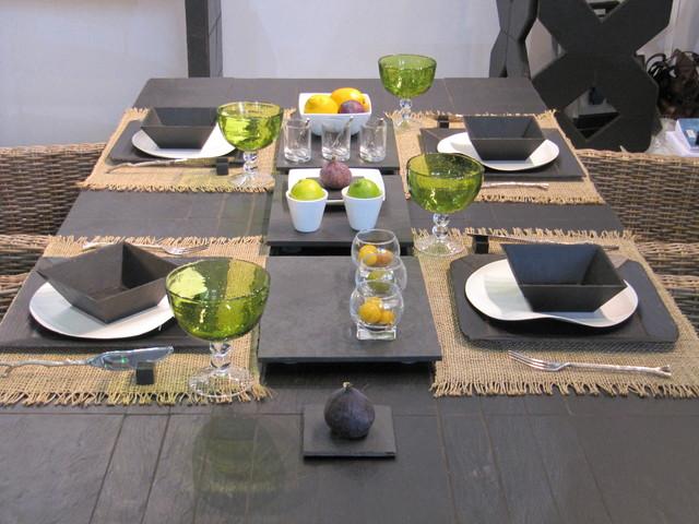 Plateau de table en ardoise naturelle - Modern - Esszimmer ...