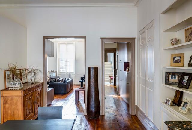 r novation appartement ancien dans la ville de bordeaux contemporain salle manger. Black Bedroom Furniture Sets. Home Design Ideas