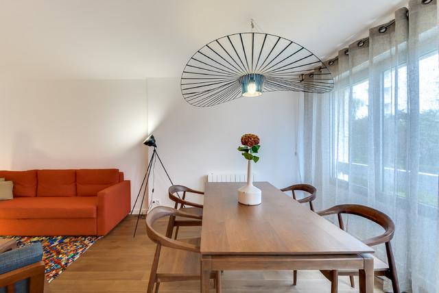 r novation appartement courbevoie 60m2 contemporain salle manger paris par gommez va z. Black Bedroom Furniture Sets. Home Design Ideas