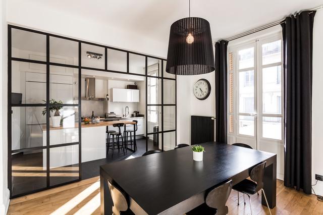 Rénovation cuisine Sagne avec îlot central – appartement Lyon 6ème