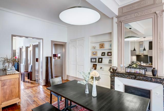 r novation d 39 un appartement ancien en duplex bordeaux contemporain salle manger. Black Bedroom Furniture Sets. Home Design Ideas