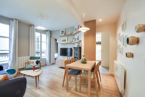 Cet appartement de 53 m² a été parfaitement réorganisé et rénové pour une mère et sa