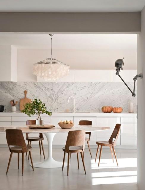Renovation D Une Maison Des Annees 80 Contemporain Salle A Manger Montpellier Par Ml H Design