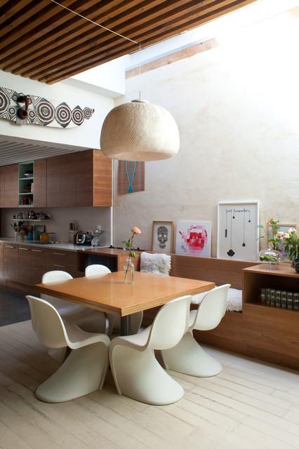 renovation dune maison en bois  Eclectic  Dining Room  Paris  by Isa