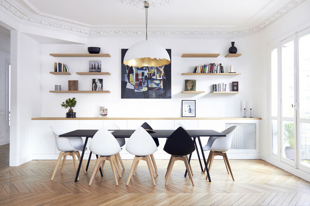 salle manger scandinave parisienne scandinavian dining room paris by espace lumi re. Black Bedroom Furniture Sets. Home Design Ideas