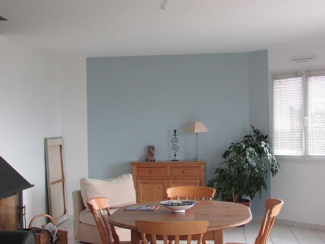 Salon Sejour Bleu Gris Moderno Comedor Brest De