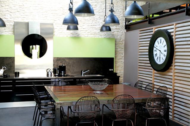 sauzelle la blanche industriel salle manger nantes par aliz chauvet architecte. Black Bedroom Furniture Sets. Home Design Ideas