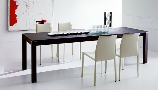 Table console extensible domino moderne salle manger for Table console extensible grise