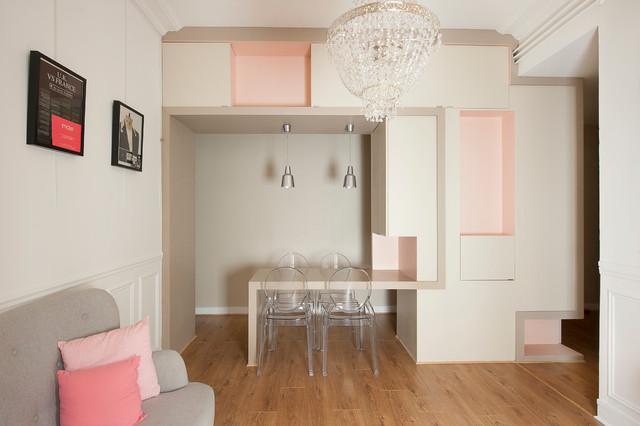 Table de repas intégrée - Contemporary - Dining Room - Paris - by ...