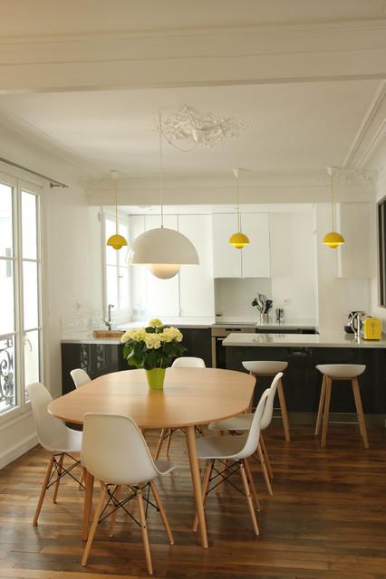 transformation haussmannienne 85 m2 contemporain salle manger paris par camille. Black Bedroom Furniture Sets. Home Design Ideas