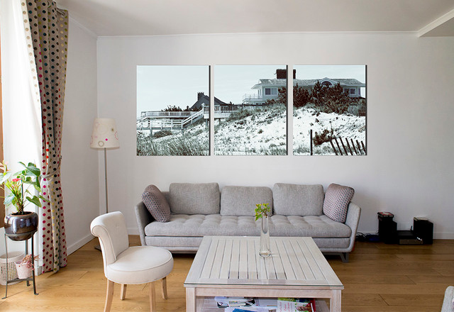 Triptyque Photos HAMPTONS In Large Wall Art Print Contemporary Dining Room