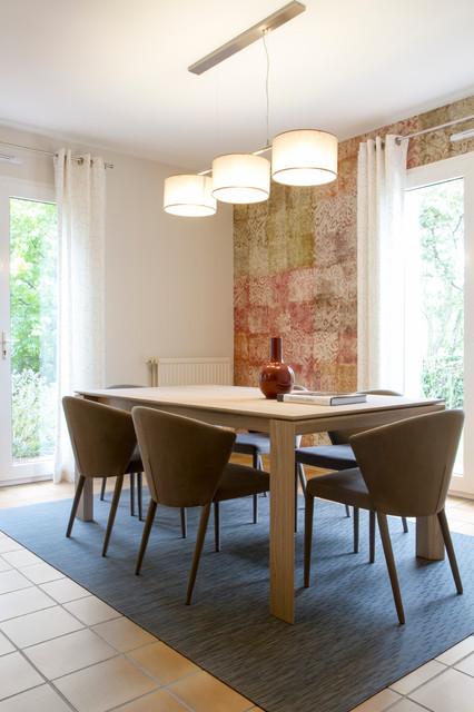 une r novation cesson sevigne contemporain salle manger rennes par caroline d sert. Black Bedroom Furniture Sets. Home Design Ideas