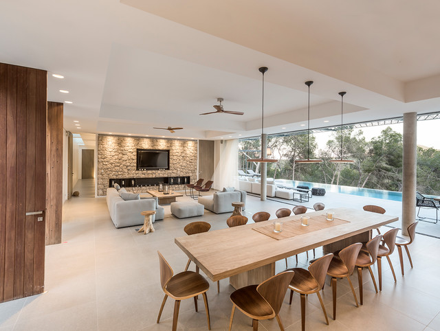 Zsofia varnagy architecture dintérieur interior architects villa the rock ibiza contemporary dining room