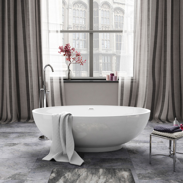 Luxury Bathrooms West Midlands 1685x800mm alexandra freestanding bath - small - contemporary