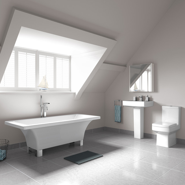1700x800mm Isabella Freestanding Bath With Belfort Suite