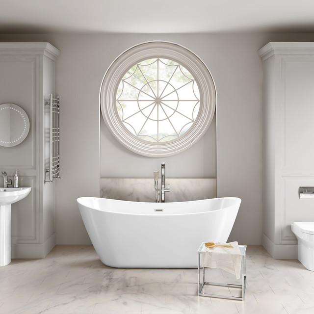 Luxury Bathrooms West Midlands 1830mmx710mm caitlyn freestanding bath - large - contemporary