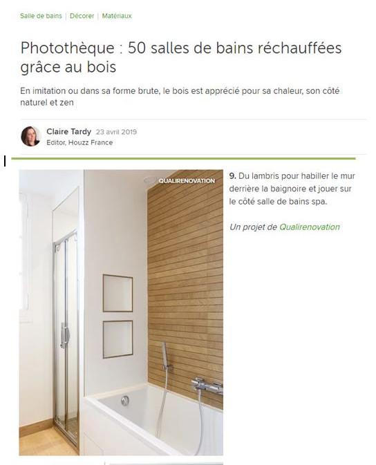 23 avril 2019- Photothèque : 50 salles de bains réchauffées grâce au bois