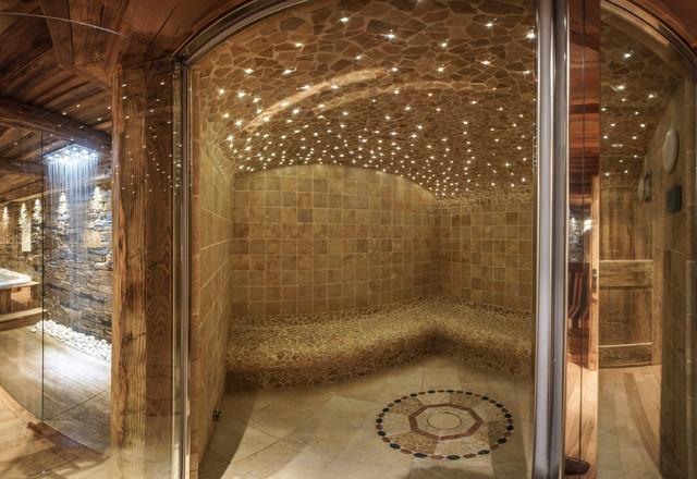 Am nagement d 39 un chalet cosy for Salle de bain hammam