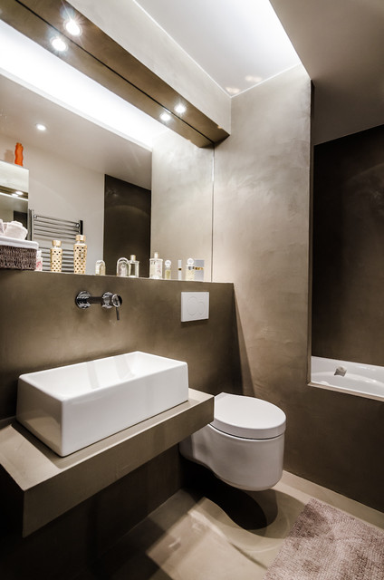 Appartement bo contemporain salle de bain other for Salle de bain moderne houzz
