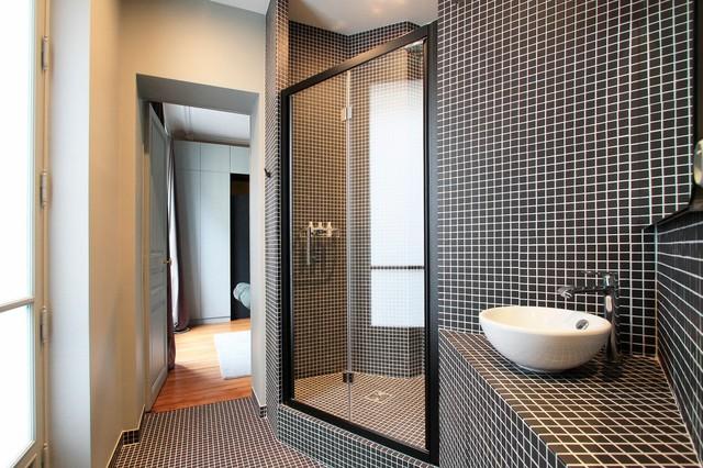 appartement haussmannien contemporaneo stanza da bagno parigi di ga lle cuisy karine. Black Bedroom Furniture Sets. Home Design Ideas