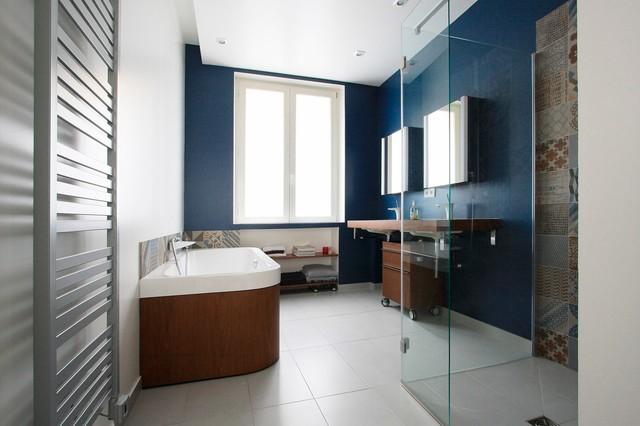 Appartement haussmannien contemporain salle de bain other metro par ga lle cuisy - Houzz salle de bain ...