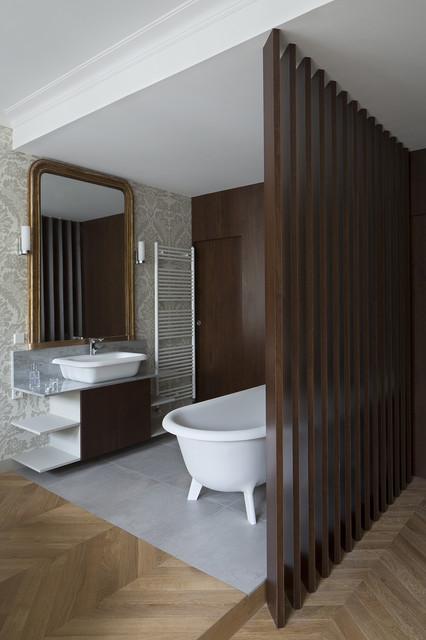 Appartement haussmannien Paris Artois - salle de bains ...
