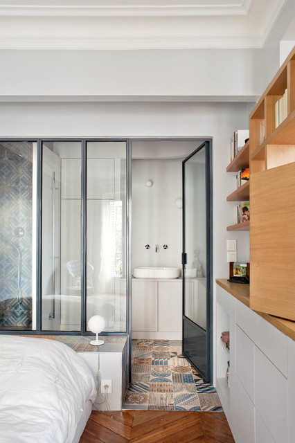 appartement l paris 75 contemporain salle de bain paris par olivier chabaud architecte. Black Bedroom Furniture Sets. Home Design Ideas