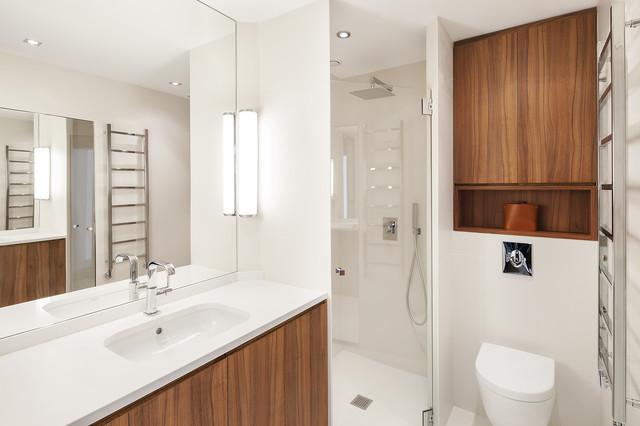 Appartement paris 16 contemporain salle de bain for Accessoires salle de bain paris 16