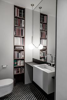 Salle de bain avec carrelage noir et blanc : Photos et idées ...