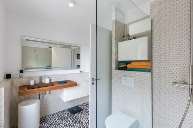 Appartement Parisien Design Aux Elements Lago En Blanc Et