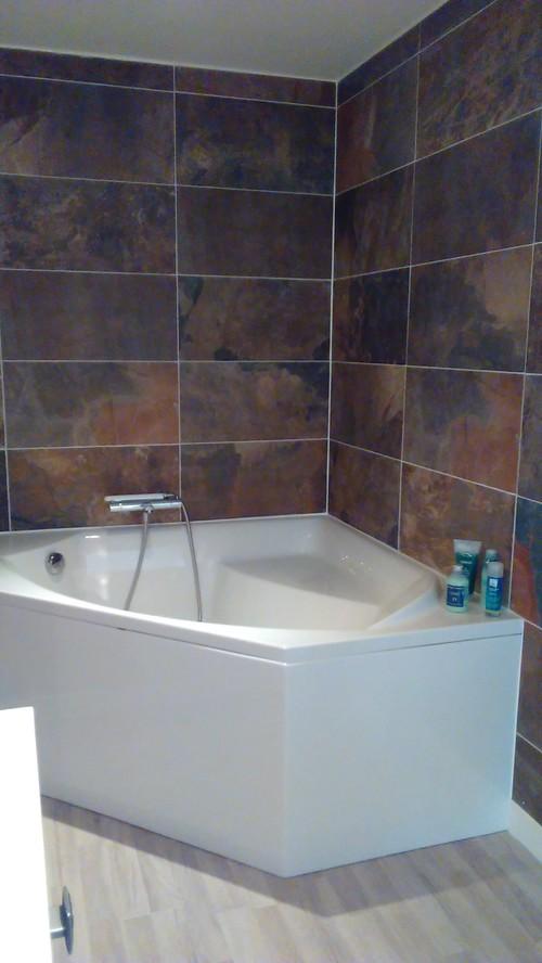 Avant apres une salle de bains contemporaine dans d - Salle de bains contemporaine ...