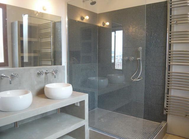 Bains et douches - Moderne - Salle de Bain - Nice - par Xavier ...