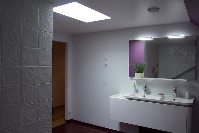 Bathroom salle de bain modern bathroom other metro by maryline bauc - Salle de bain modern ...