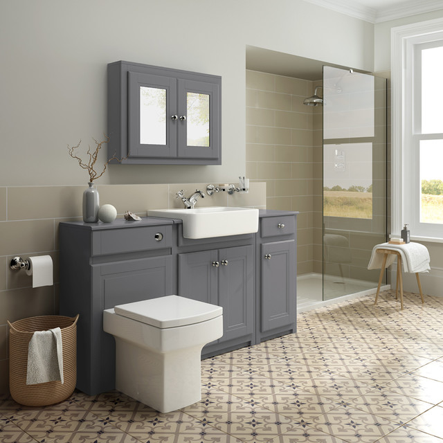 Luxury Bathrooms West Midlands cambridge midnight grey - roomset - transitional - bathroom - west