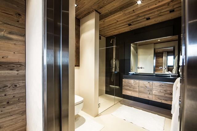 chalet de montagne dgc studio moderno stanza da bagno lione di dgc studio photography. Black Bedroom Furniture Sets. Home Design Ideas