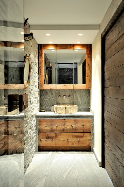 chalet fantaisie montagne salle de bain lyon par capri. Black Bedroom Furniture Sets. Home Design Ideas