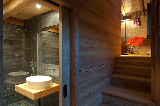 Chalet maj contemporain salle de bain other metro for Salle de bain moderne houzz