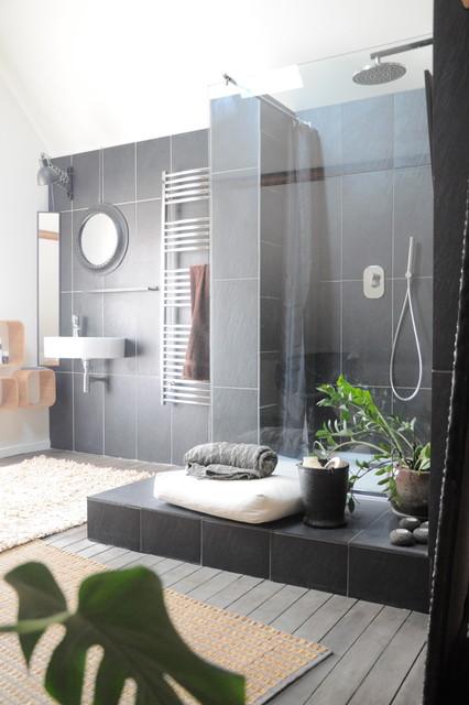 Conseil déco : salle de douche en ardoise - Contemporary ...