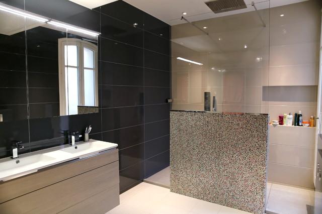 contemporain et haussmannien contemporain salle de bain other metro par laurent cayron. Black Bedroom Furniture Sets. Home Design Ideas