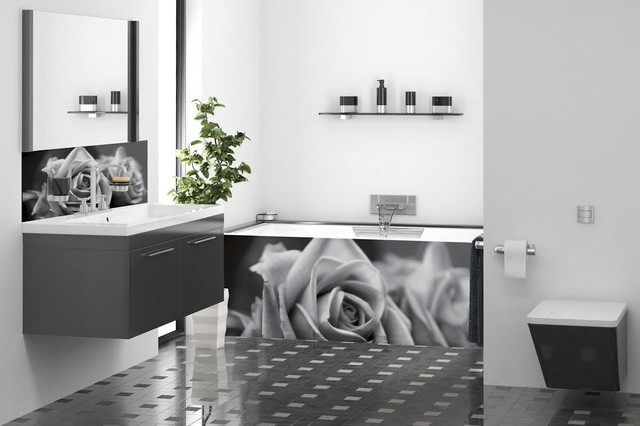 cr dence de lavabo et de baignoire romantique. Black Bedroom Furniture Sets. Home Design Ideas