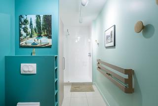 Salle De Bain Turquoise Photos Et Idees Deco De Salles De Bain Decembre 2020 Houzz Fr