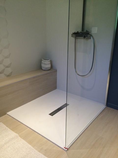Douche 120 120 receveur fiora contemporary bathroom - Fiora salle de bain ...
