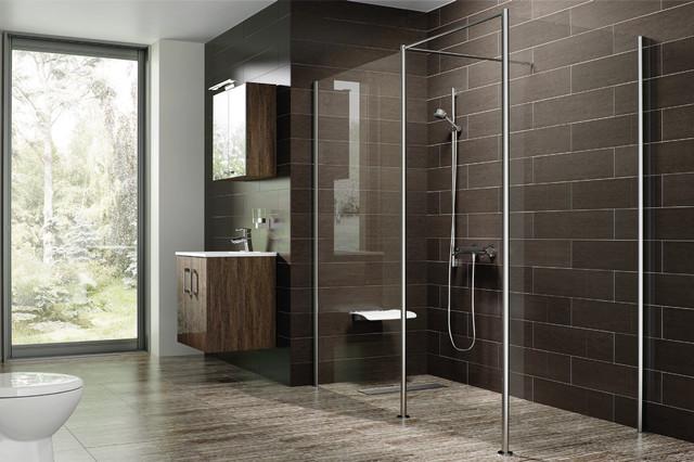 douche litalienne et parois en verre moderne salle de bain - Salle De Bain Italienne Moderne